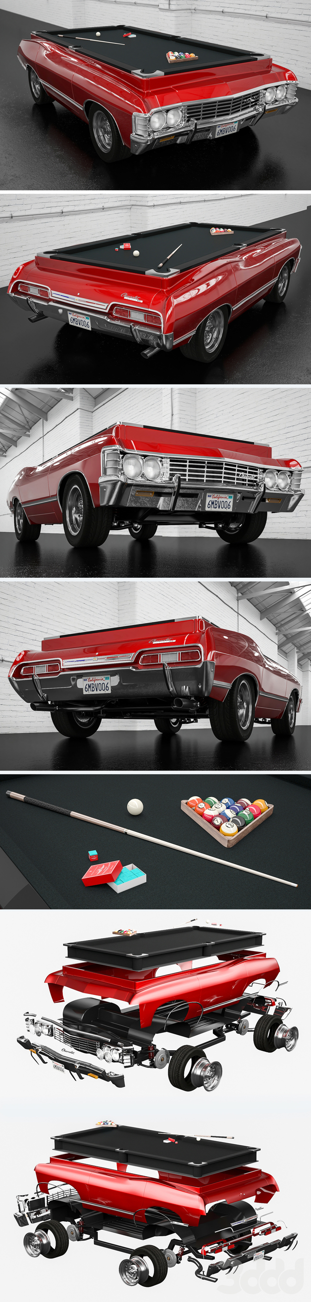 chevrolet impala 1967 billiard