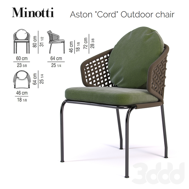 Aston Cord Outdoor chair / Bellagio Bistrot