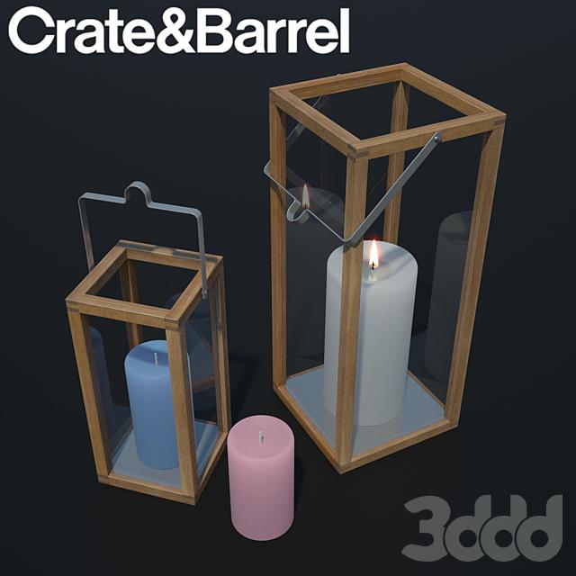 Crosby Lantern | Glass lantern case | candles
