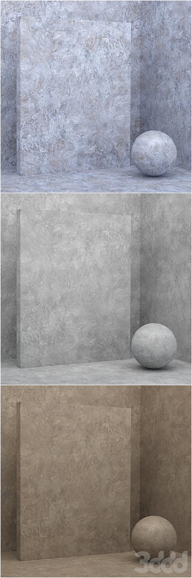 6 материалов (бесшовный) - камень, штукатурка - set 21