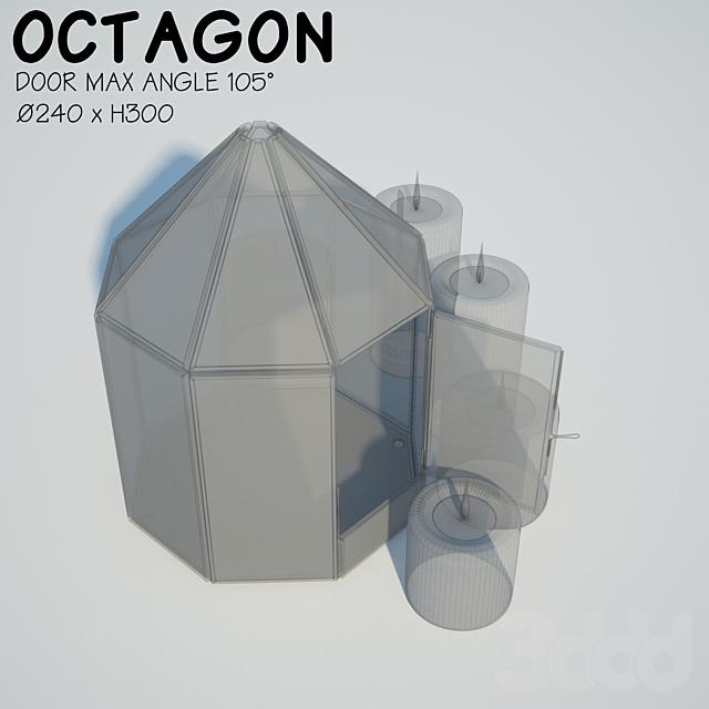 Glass tabletop gazebo | Octagon | Candles