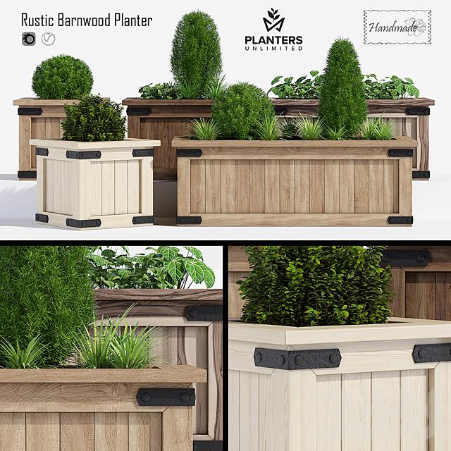 Rustic barnwood planter one
