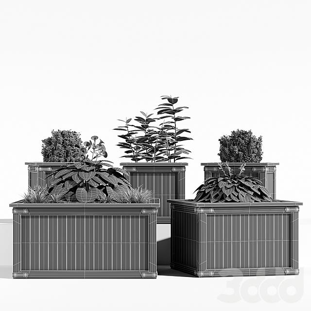Rustic barnwood planter two