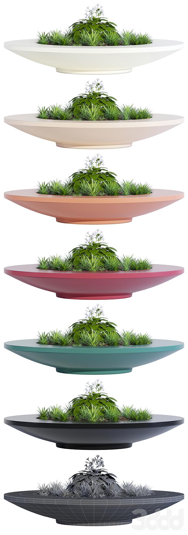 Rosetta bowl bench planter