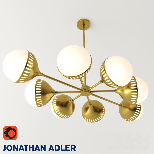 JONATHAN ADLER - Rio Oval Spoke Chandelier