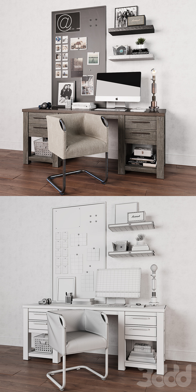 Vaughn Storage Desk