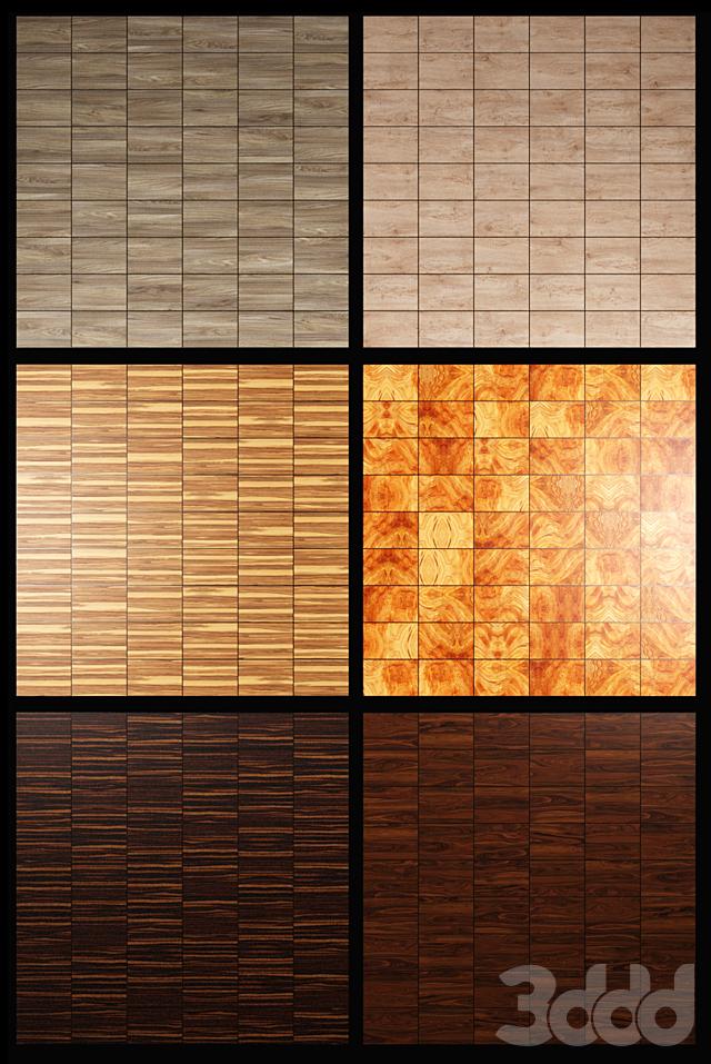 Акустические декоративные панели 6 видов, набор 18