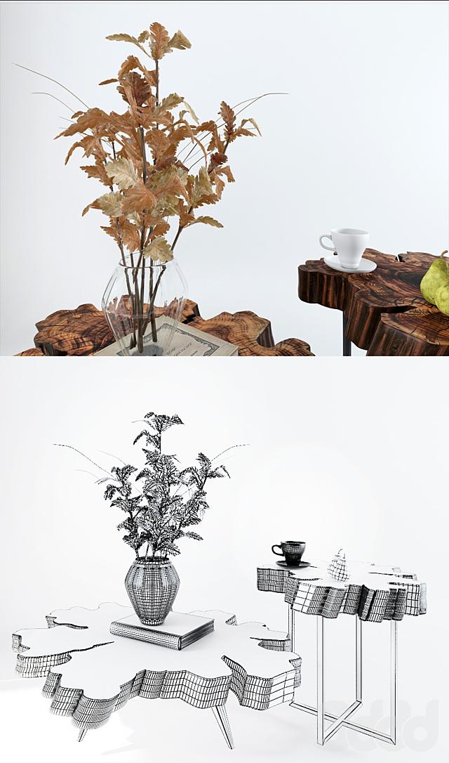 Набор столиков из слэба карагача