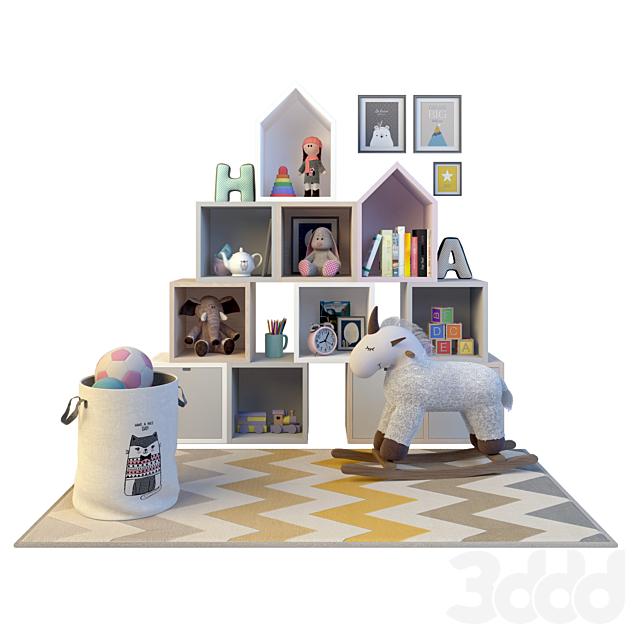 Декоративный набор игрушек для детской комнаты.
