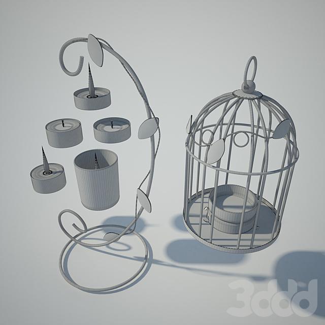Tealight Lantern + Stand | Classic Birdcage