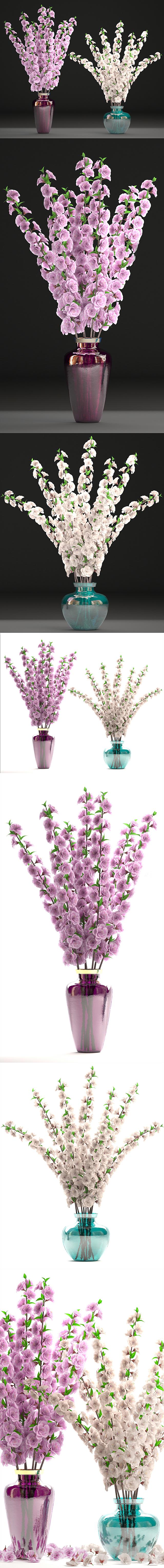 Коллекция цветов 26. Букеты цветущей сакуры