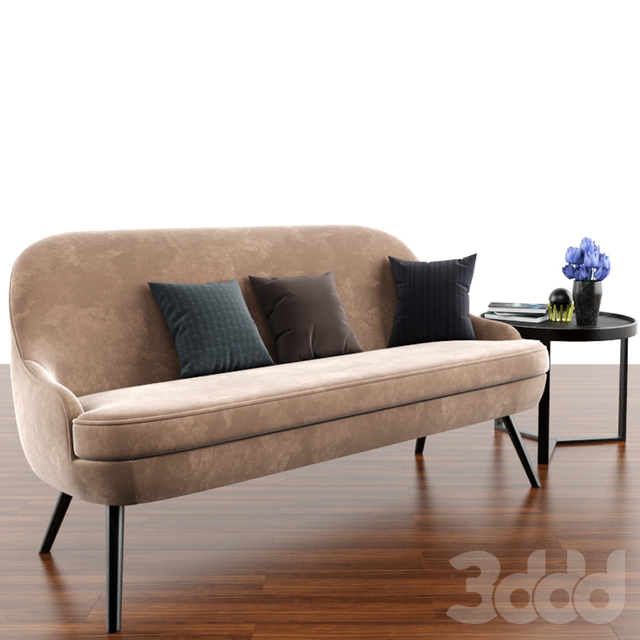 375 Walter Knoll Sofa With Aula Coffee Table & Parquet