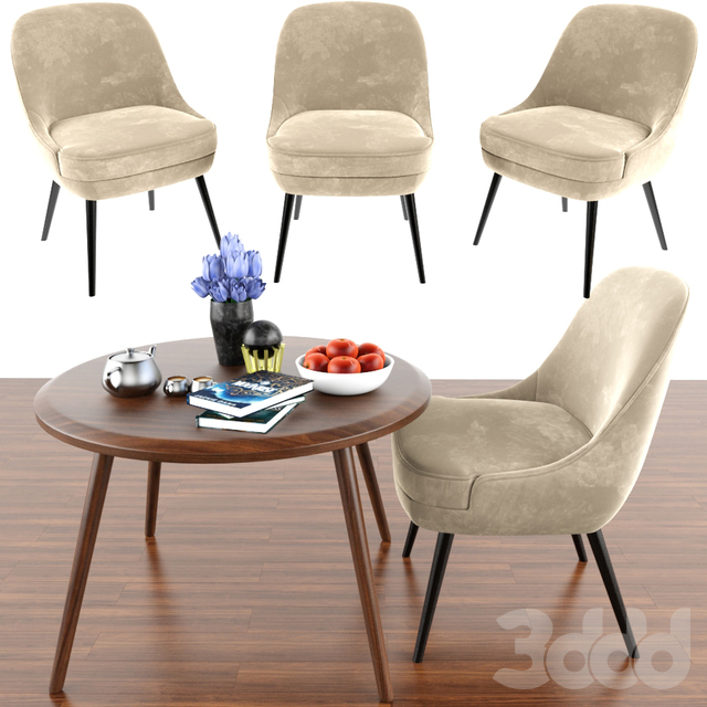 375 Dining Chair And Vince Table & Parquet