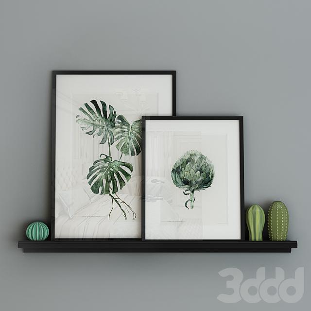 Декоративный набор с картинами