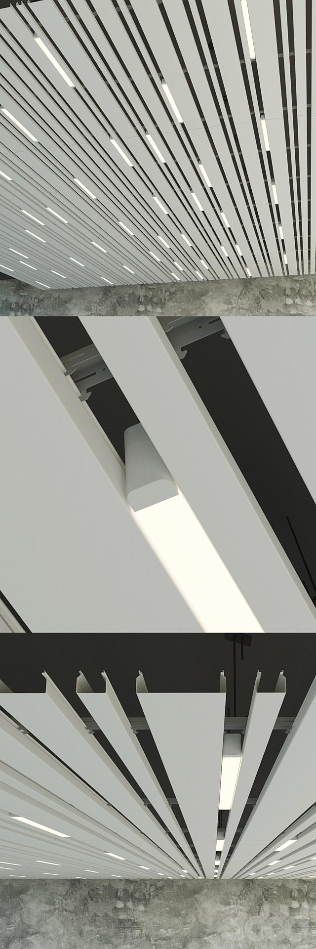 Подвесной потолок реечный 9