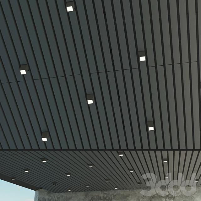 Подвесной потолок реечный 12