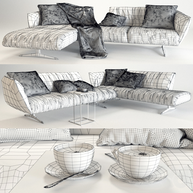 Bundle Sofa Walter Knoll (vray GGX)