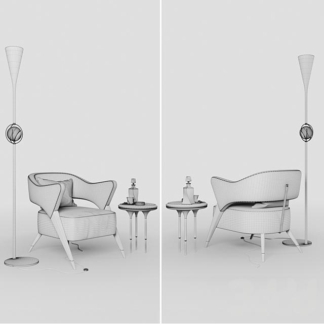 Кресло в стиле Monique