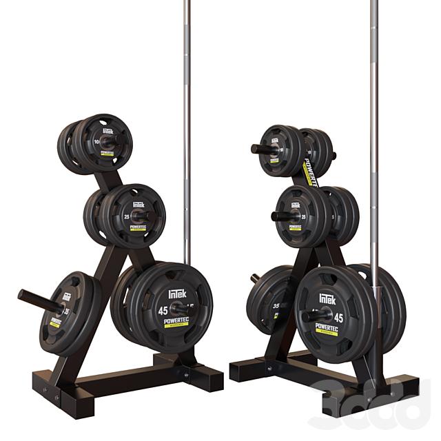 Powertec Стойка для весов Weight Rack