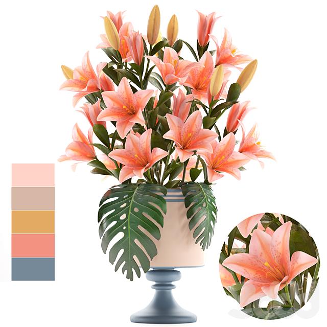 Коллекция цветов 57. Букет Лилий.