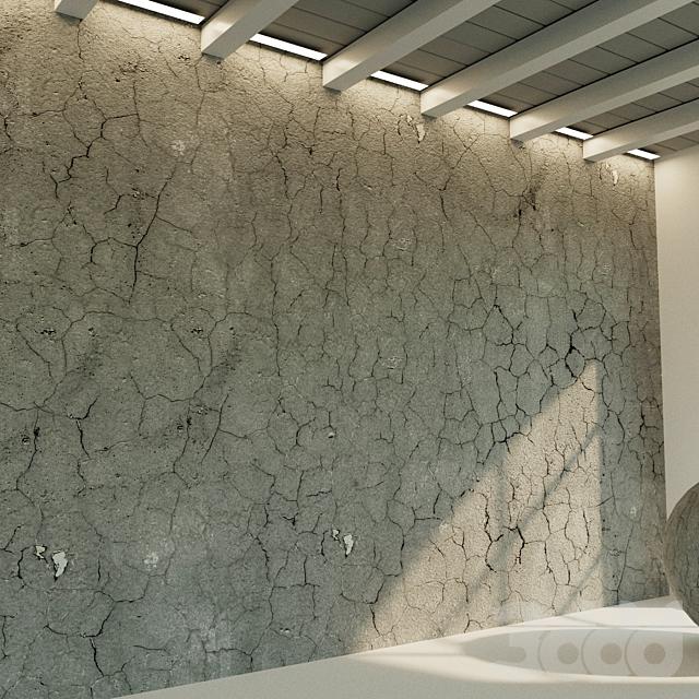 Бетонная стена. Старый бетон. 42