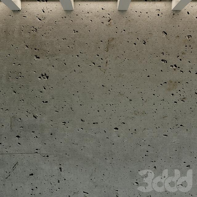 Бетонная стена. Старый бетон. 49