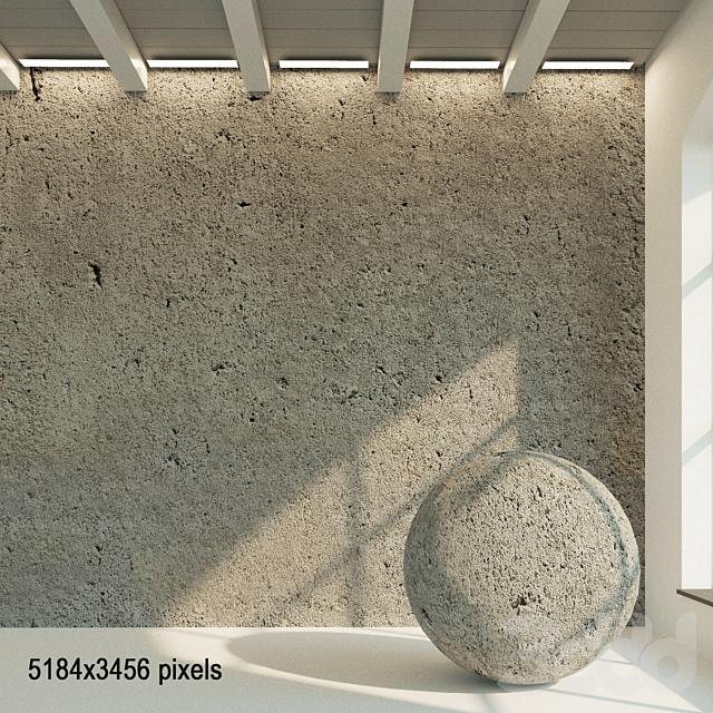 Бетонная стена. Старый бетон. 52