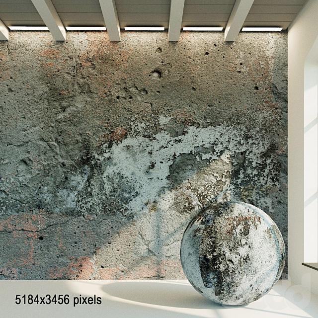 Бетонная стена. Старый бетон. 54