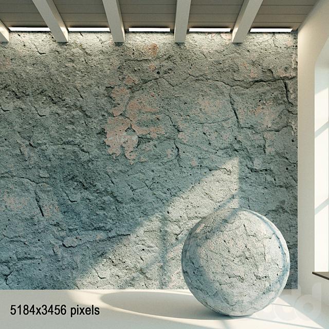 Бетонная стена. Старый бетон. 55