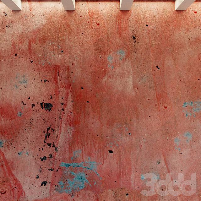 Бетонная стена. Старый крашенный бетон. 61