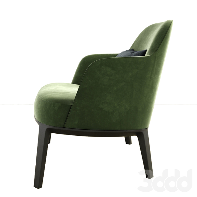 Jane Fabric Armchair Poliform With Nesting Coffee Table