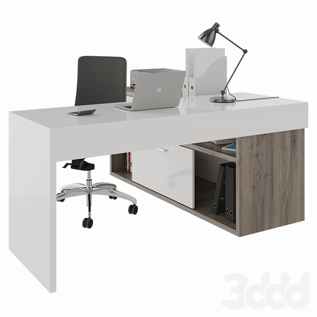 Office desk with decors