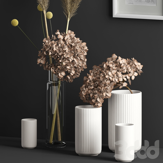 Decor with dry flowers