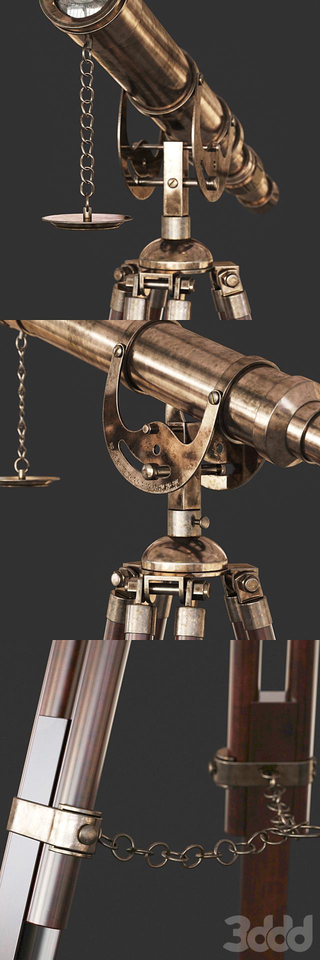 Винтажный Телескоп