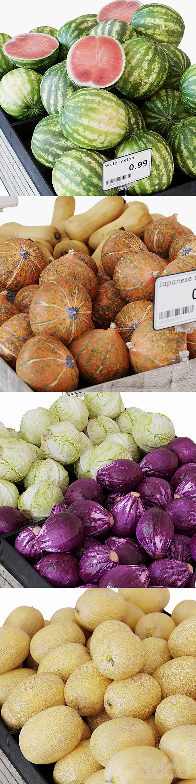 Стеллажи для овощей/фруктов