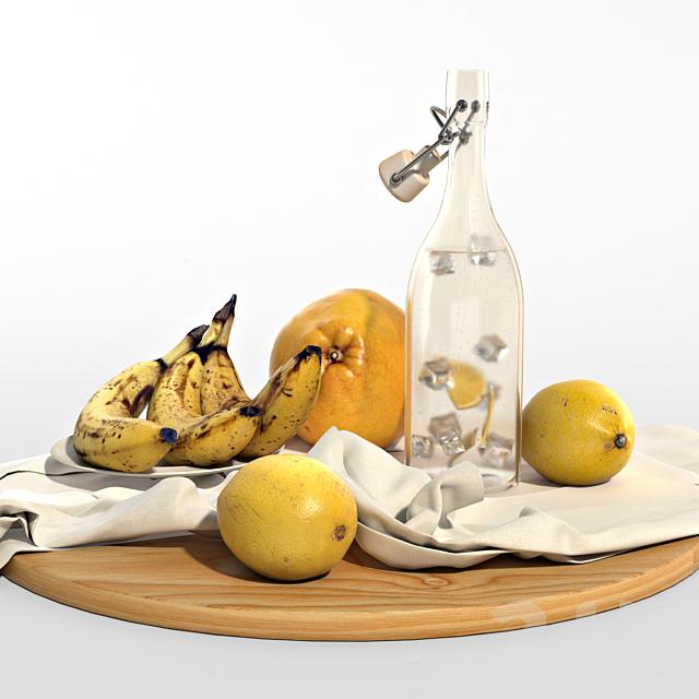 Набор из желтых фруктов