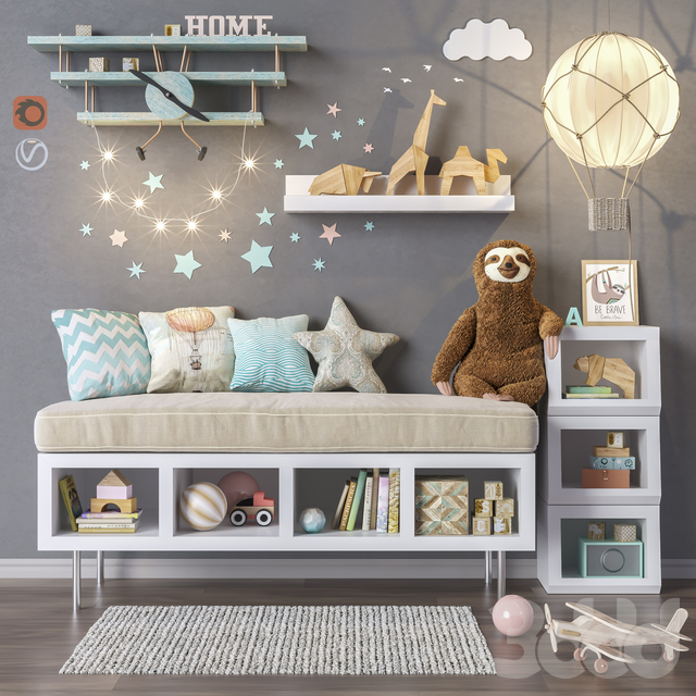 Toys and furniture set 32