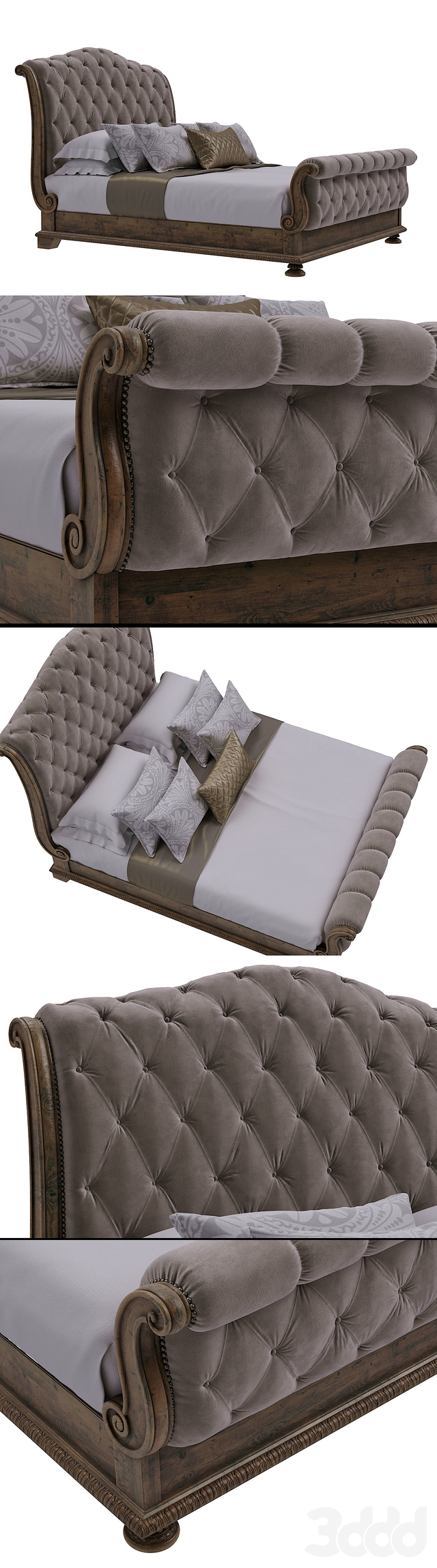 Hooker Furniture Bedroom Rhapsody King Tufted Bed