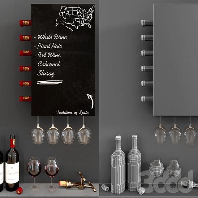 Wine Wall Decorative Cabinet