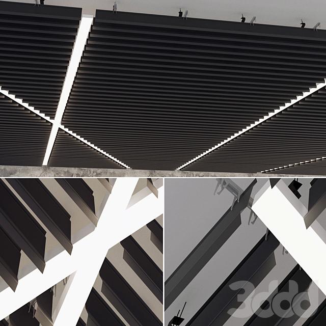 Подвесной потолок реечный 18