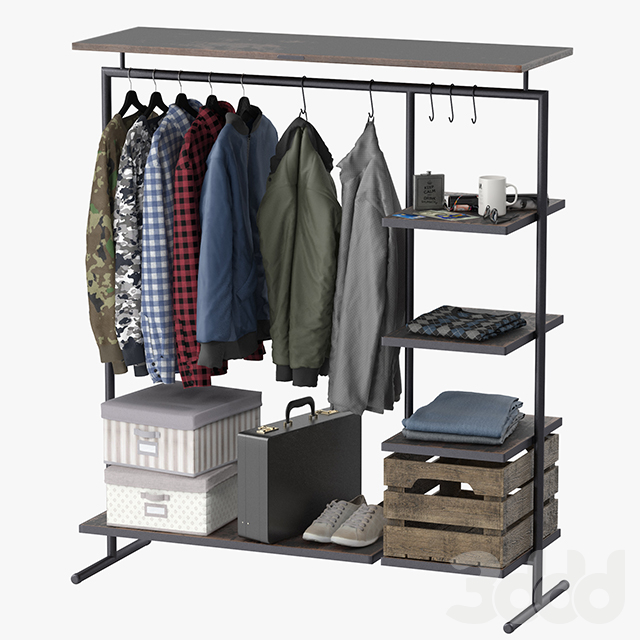 CLOTHES RACK WOOD