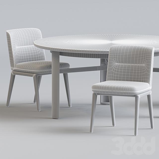 Minotti Lance chair set