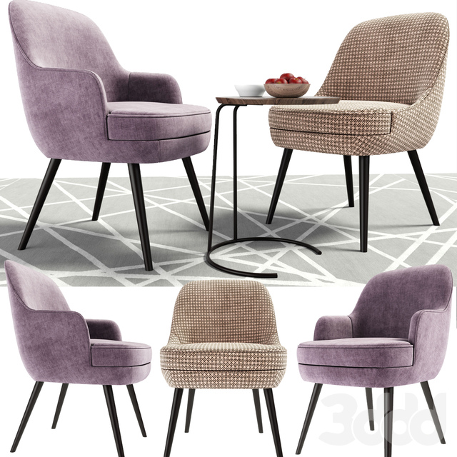 375 Walter Knoll Dining Chairs With coffee table