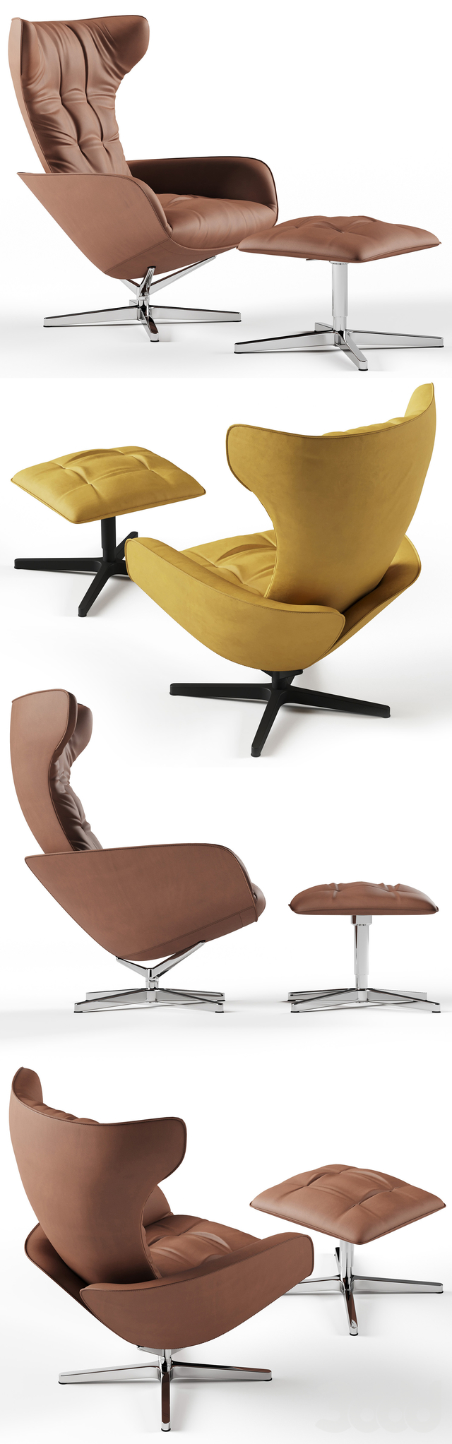 Walter Knoll Onsa Chair and Pouf