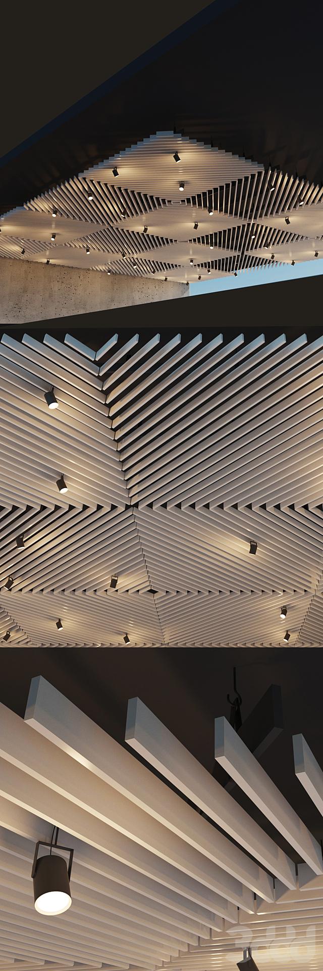 Подвесной потолок реечный. 21
