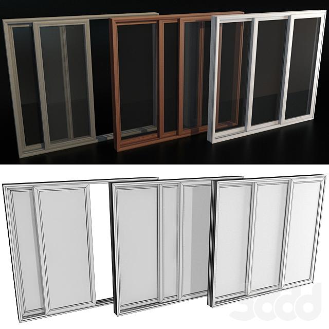 Раздвижные витражные алюминиевые двери / Sliding Stained Glass Aluminum Doors