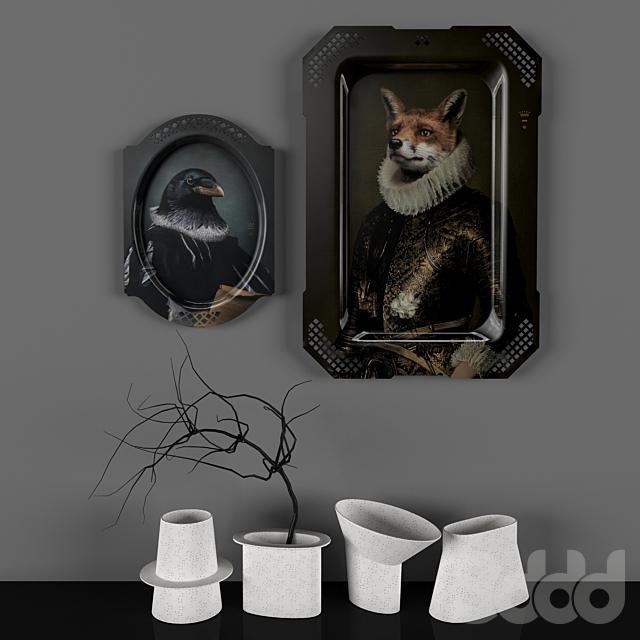 Картины подносы от Ibride и сет ваз от Harto