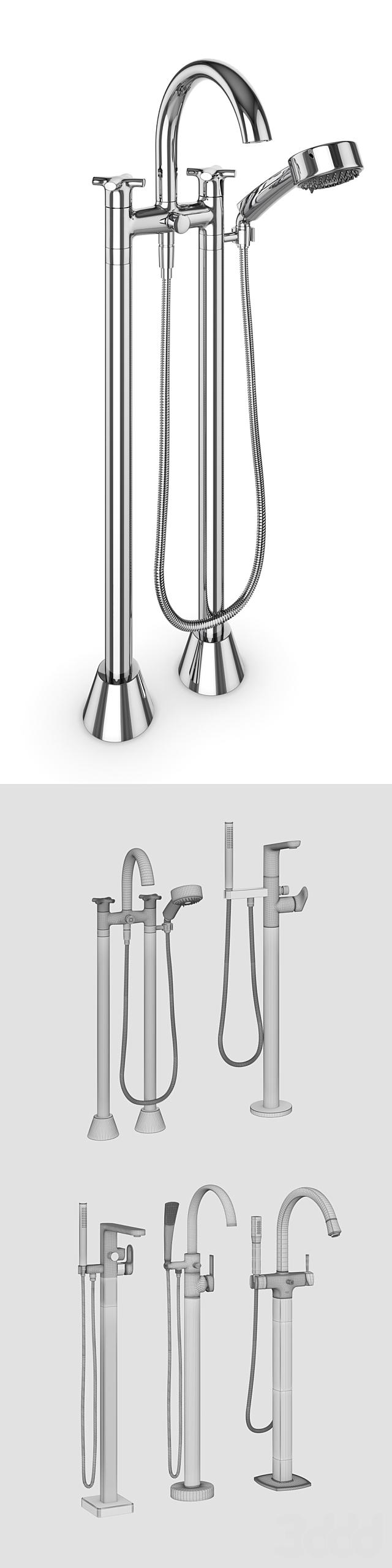 Смесители для отдельностоящих ванн Ravak, Villeroy & Boch, GROHE set 28