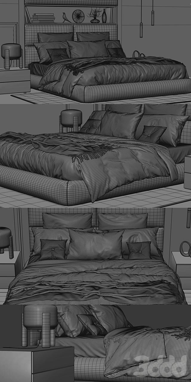 Poliform Dream Bed Headboard B
