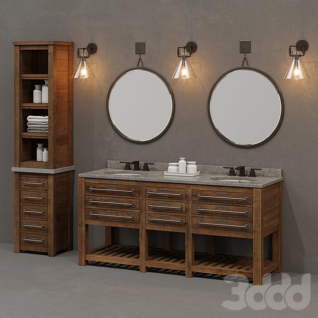 Early 20th C Mercantile Bathroom Set